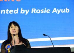 Rosie Ayub presents the Community, Social or Vocational Initiative award