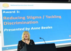 Anne Beales presents the Reducing Stigma / Tackling Discrimination award