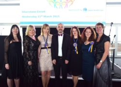 The judging panel with Cygnet Health Care's Louise Bannister and Amy Stanion, the award organisers