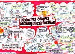 Anna Geyer's graphic representation of the finalists for the 'Reducing Stigma: Tackling Discrimination
