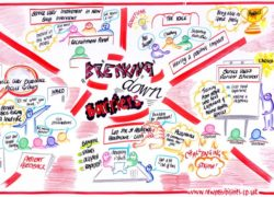 Anna Geyer's graphic representation of the finalists for the 'Breaking Down Barriers' award