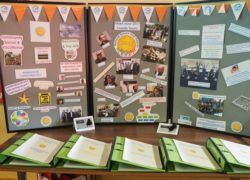 A stand showing the history of the National Service User Awards